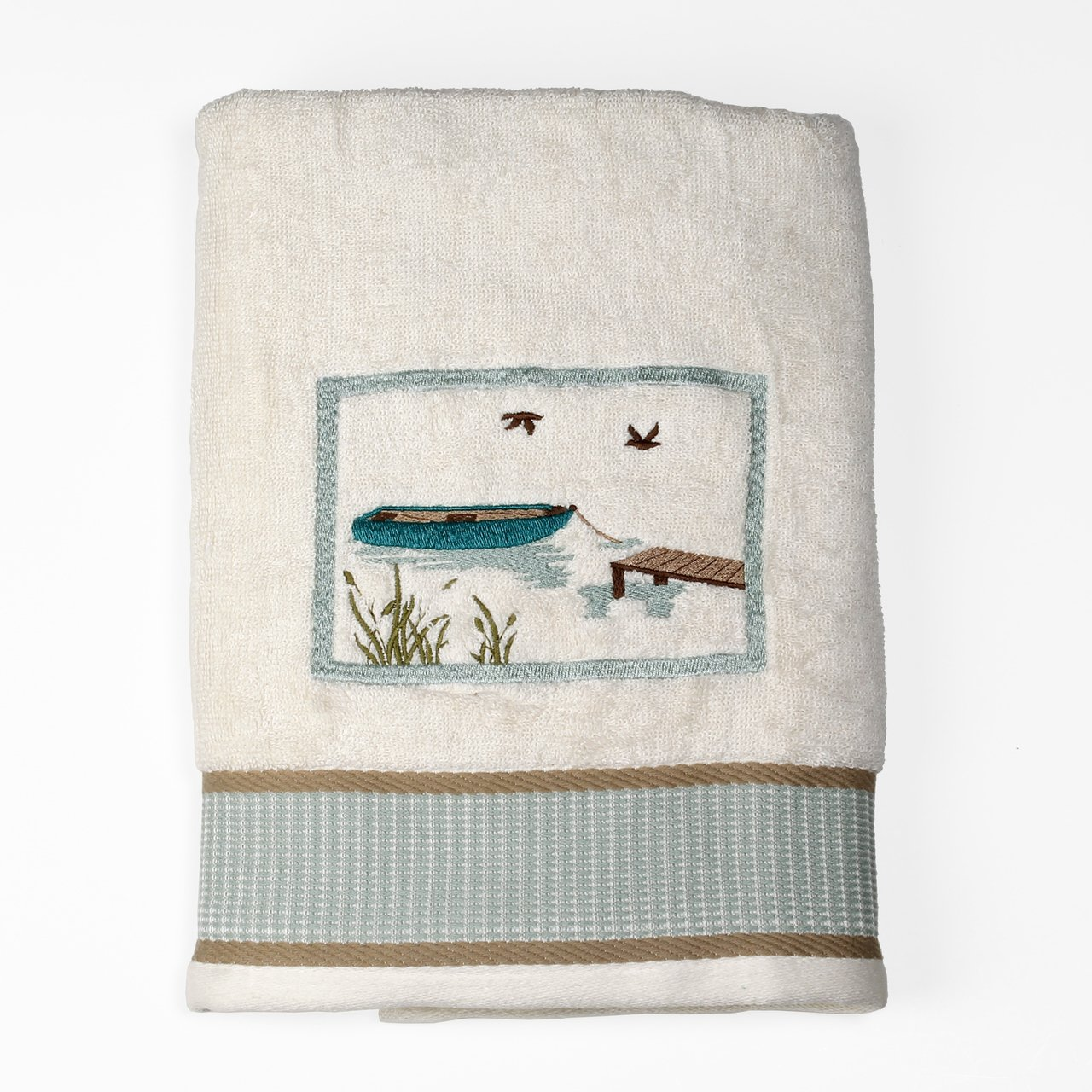 Saturday Knight Lake Retreat Collection - Bath Ensemble - Towel Set - Bath and 2 Hand Towels by Trendy Linens