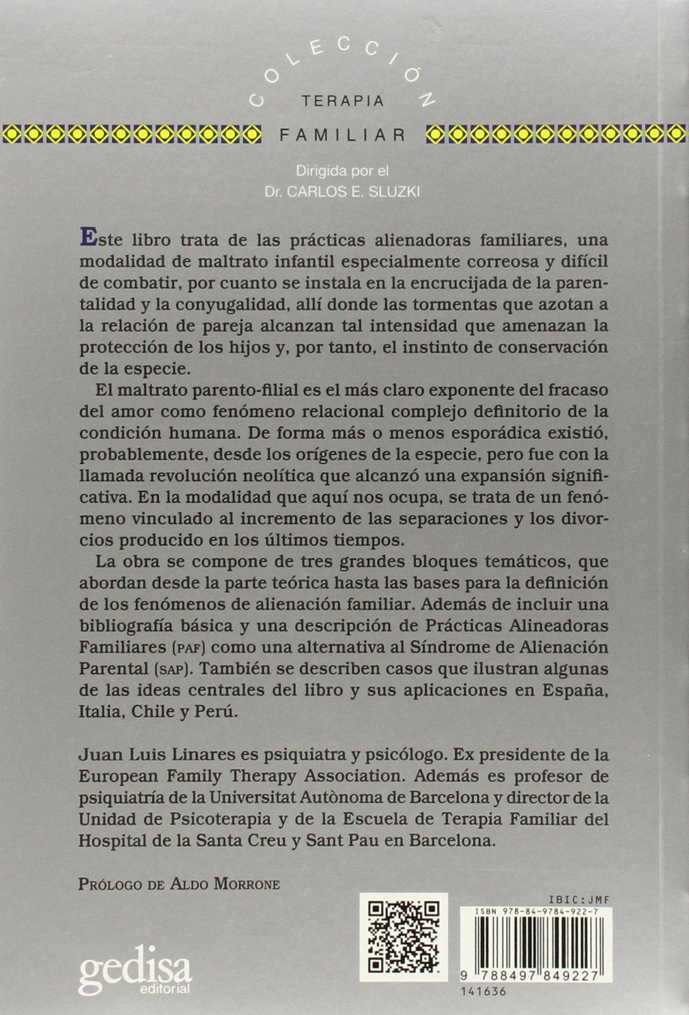 Prácticas Alienadoras Familiares (TERAPIA FAMILIAR): Amazon ...