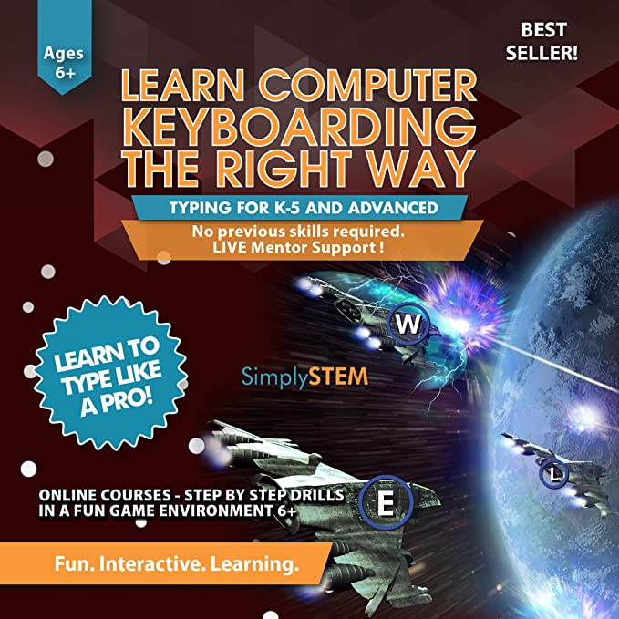Typing for Kids Course - Learn to Type Computer Keyboarding Adventure Video  Game (Ages 6+) - Better than Books, Tutor Lessons, or Instructor Program