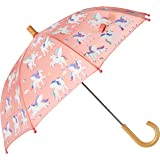 One Size Hatley Girls Printed Umbrella Rainbow Party