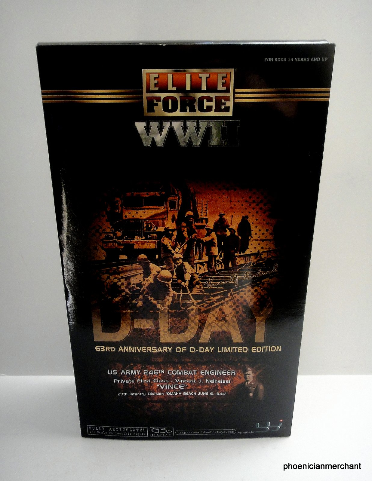 bbi Elite Force WII 1944 D-Day US Army 246th Combat Engineer Vincent J Neiheisei