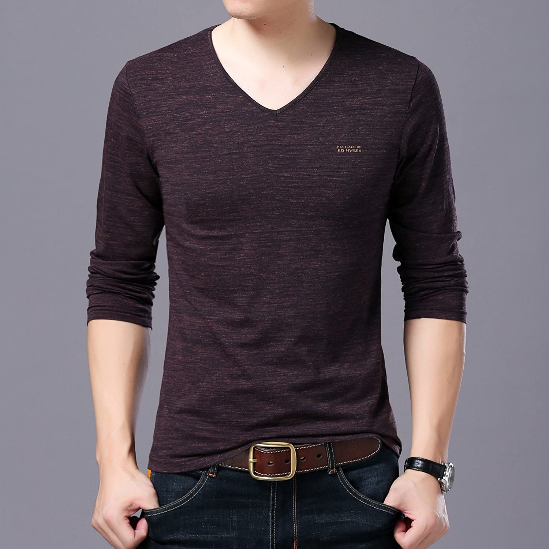 Jdfosvm Herbst männer - Pullover, Junge männer Mode, Freizeit, einfarbig v - Kragen Langarm - Pullover,Die veilchen,M