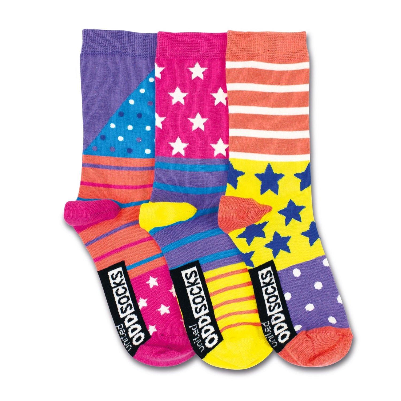 United Oddsocks UK 12-5.5 3 Oddsocks For Girls Bounce Child