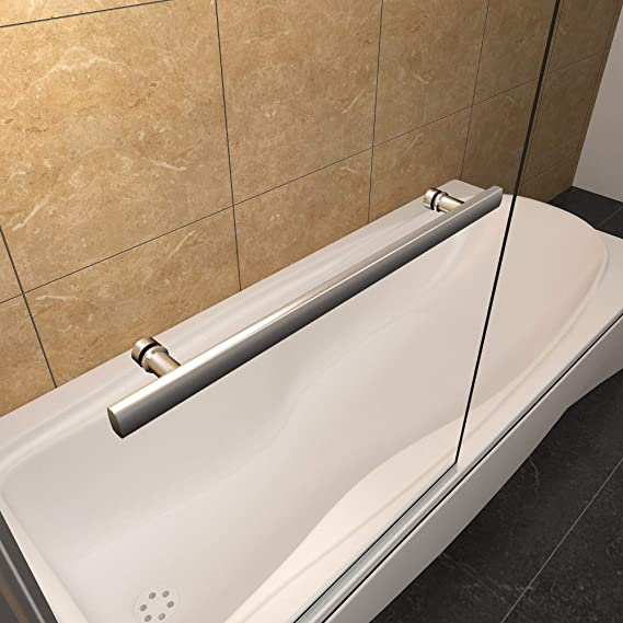 Mampara de bañera Abatible de 1 Hoja 180 grados con Toallero ...
