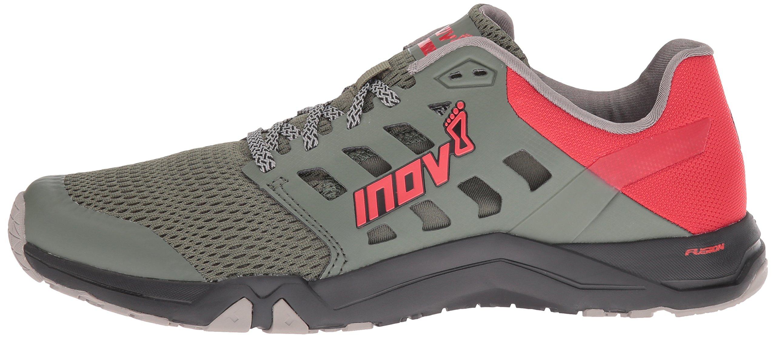 Inov-8 Men's All Train 215 Cross-Trainer Shoe, Dark Green/Red/Black, 12 D US by Inov-8 (Image #5)