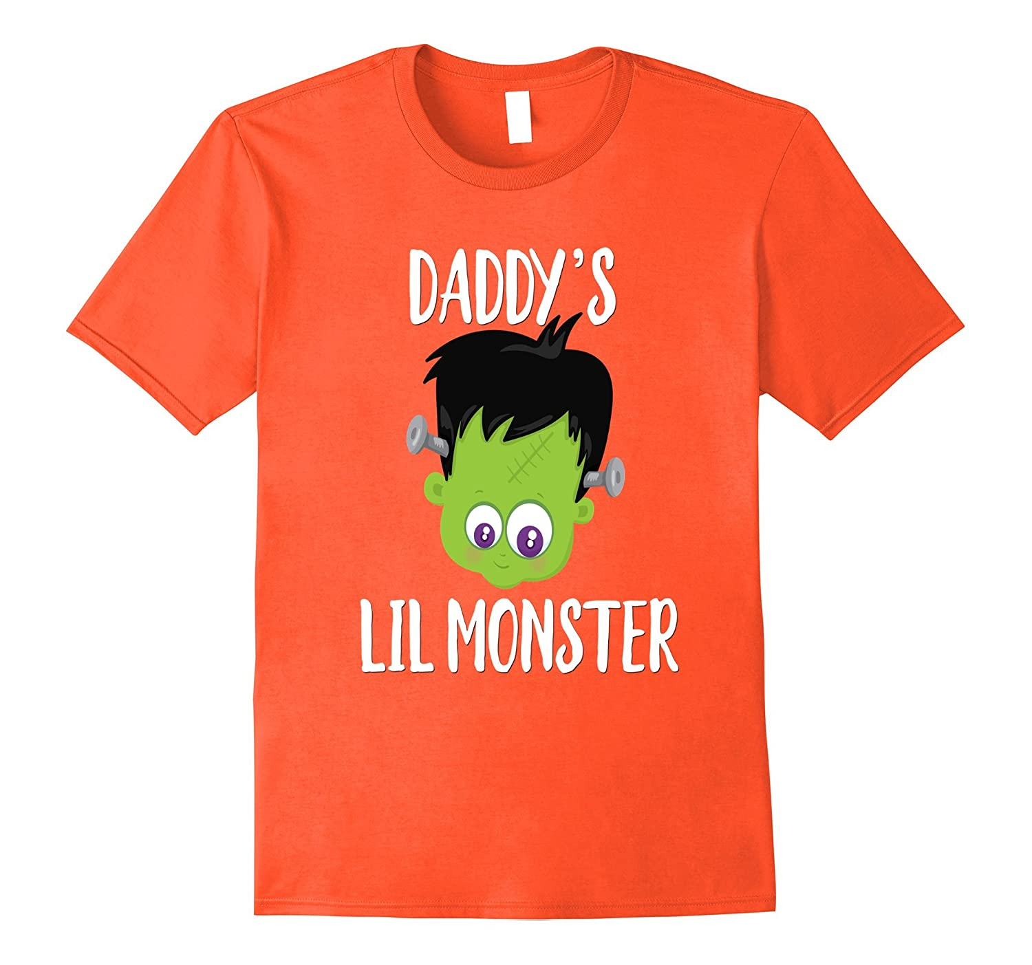 b19bf394 Daddys Little Monster Halloween Shirt Green Cute Kids-4LVS - 4loveshirt