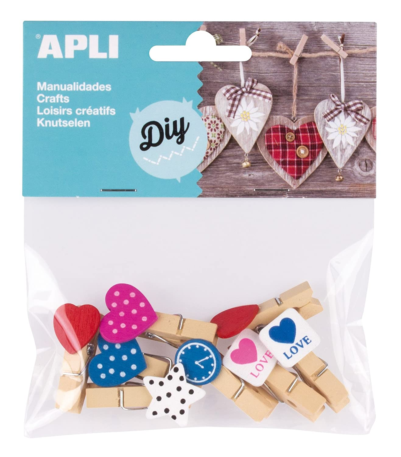 Amazon.com : APLI 941789 - Bag of 8 Mini Wooden Pegs ...