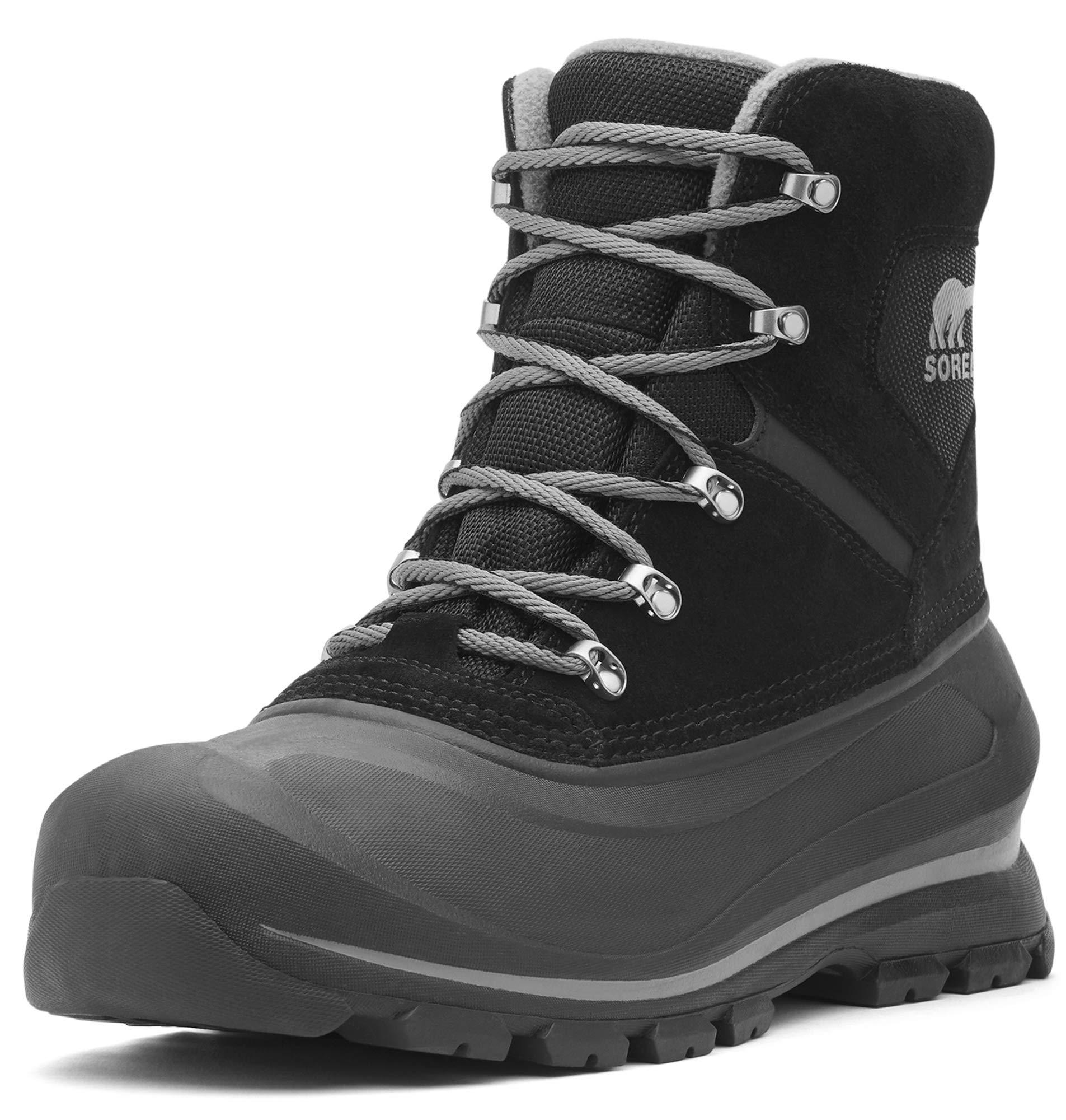 Sorel Men's Buxton LACE Snow Boot, Black, Quarry, 8 D US by Sorel