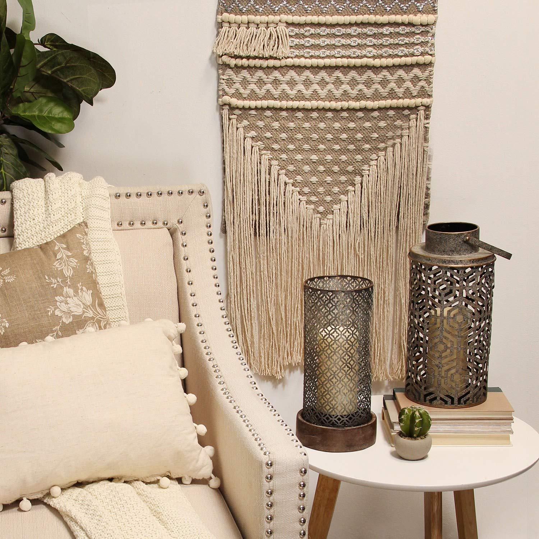 Stratton Home Decor Moroccan Hurricane Candle Holder