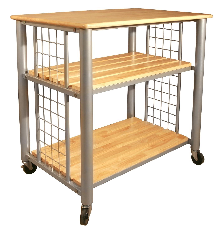 Amazon com catskill craftsmen contemporary kitchen cart kitchen dining
