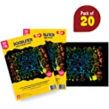 Toiing Doodletoi Return Gift Combo - 20 Packs of Magical Colourful Scratch Art Drawing Papers (1 Pack = 3 Sheets)