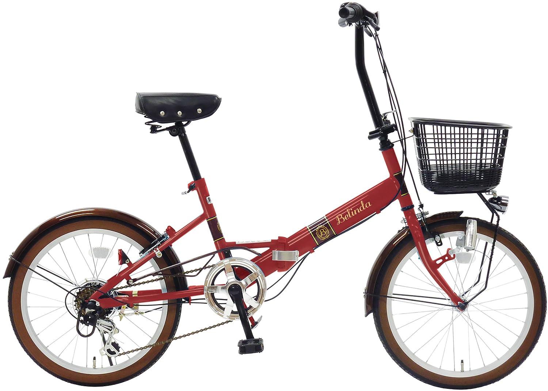 武田産業 フォールディングバイク Belinda [ベリンダ] 外装6段変速 LEDダイナモライト FDO-JH206DX レッド B071NFHSKY