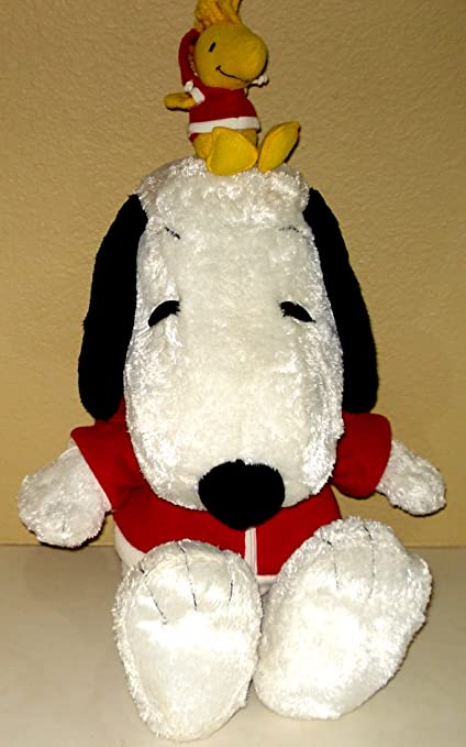 a3c2bd6cb18ce Amazon.com: Snoopy Jumbo Plush With Woodstock on Head Wearing Macy's ...