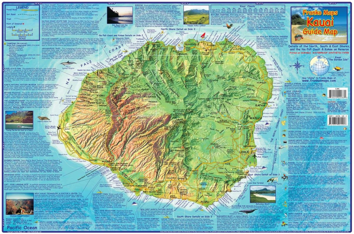 kauai hawaii adventure guide franko maps waterproof map franko maps ltd amazoncom books. kauai hawaii adventure guide franko maps waterproof map franko