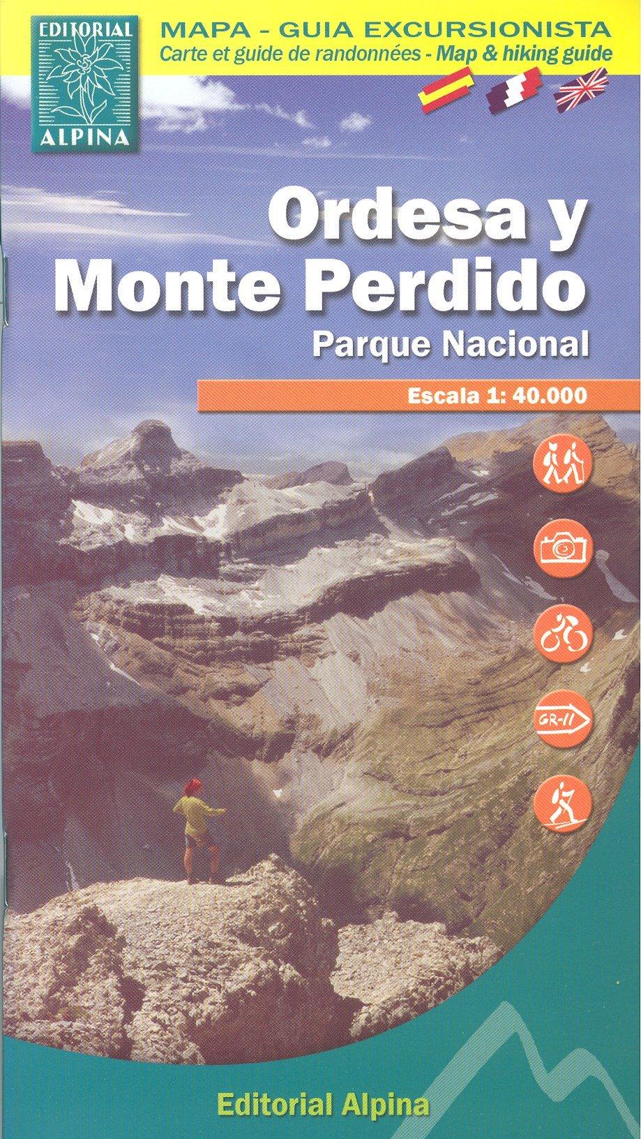 Ordesa y Monte Perdido Parque Nacional España, Pirineos 1:40.000 topográfico senderismo mapa de ALPINA: Amazon.es: AlpinaEdit.: Libros