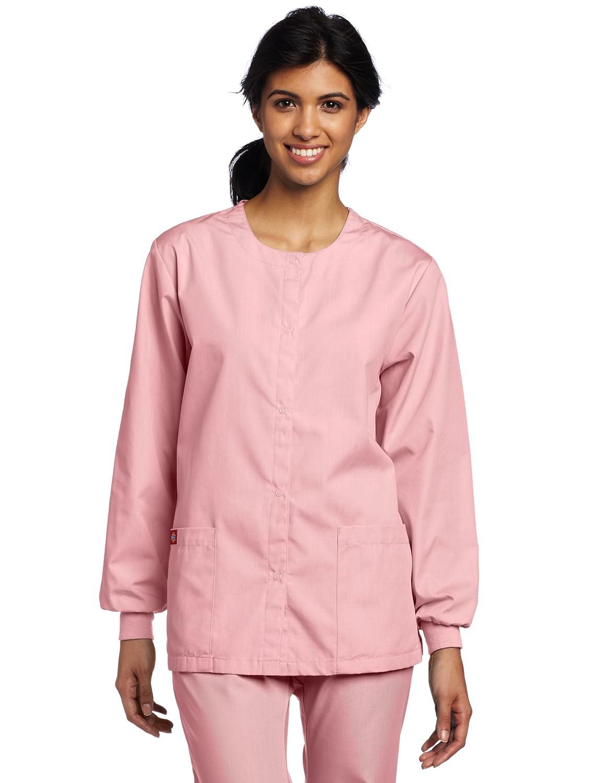 bc125a4f05e Amazon.com: Dickies Scrubs Women's Warm Up Jacket: Medical Scrubs Shirts:  Clothing