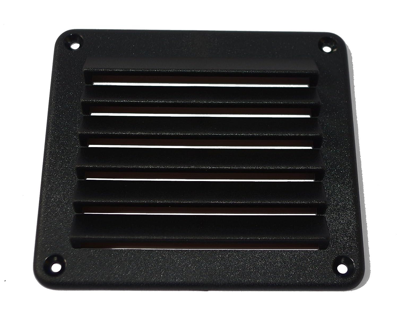 Espesor 4/mm Rejilla Ventilaci/ón cuadrada de pl/ástico 140/x 125/mm negro