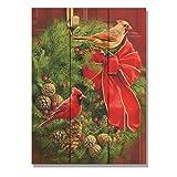 Wile E. Wood Giordano's Cardinals & Wreath Wood