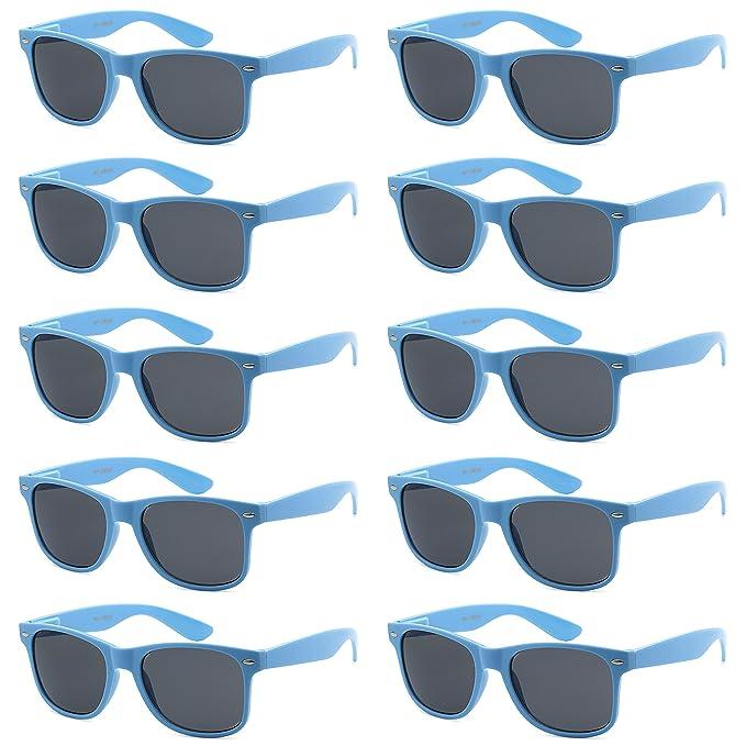 63c1d7f968 WHOLESALE UNISEX 80 S STYLE RETRO BULK LOT SUNGLASSES (Carolina Blue ...