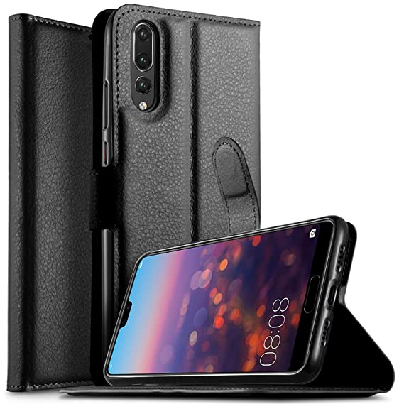 Cell Phones & Accessories Cases, Covers & Skins Genuine Leather Wallet Case For Huawei P20 Pro With Stand