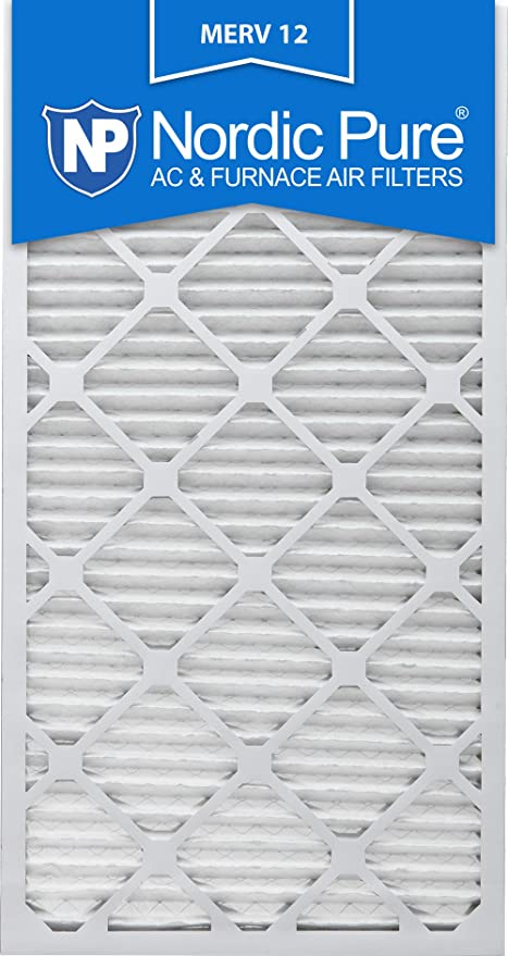 nordic pure 16x25x1 merv 12 pleated ac furnace air filter, box of 6 ...