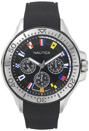 Nautica Reloj Analogico para Hombre de Cuarzo con Correa en Silicona NAPAUC009: Amazon.es: Relojes