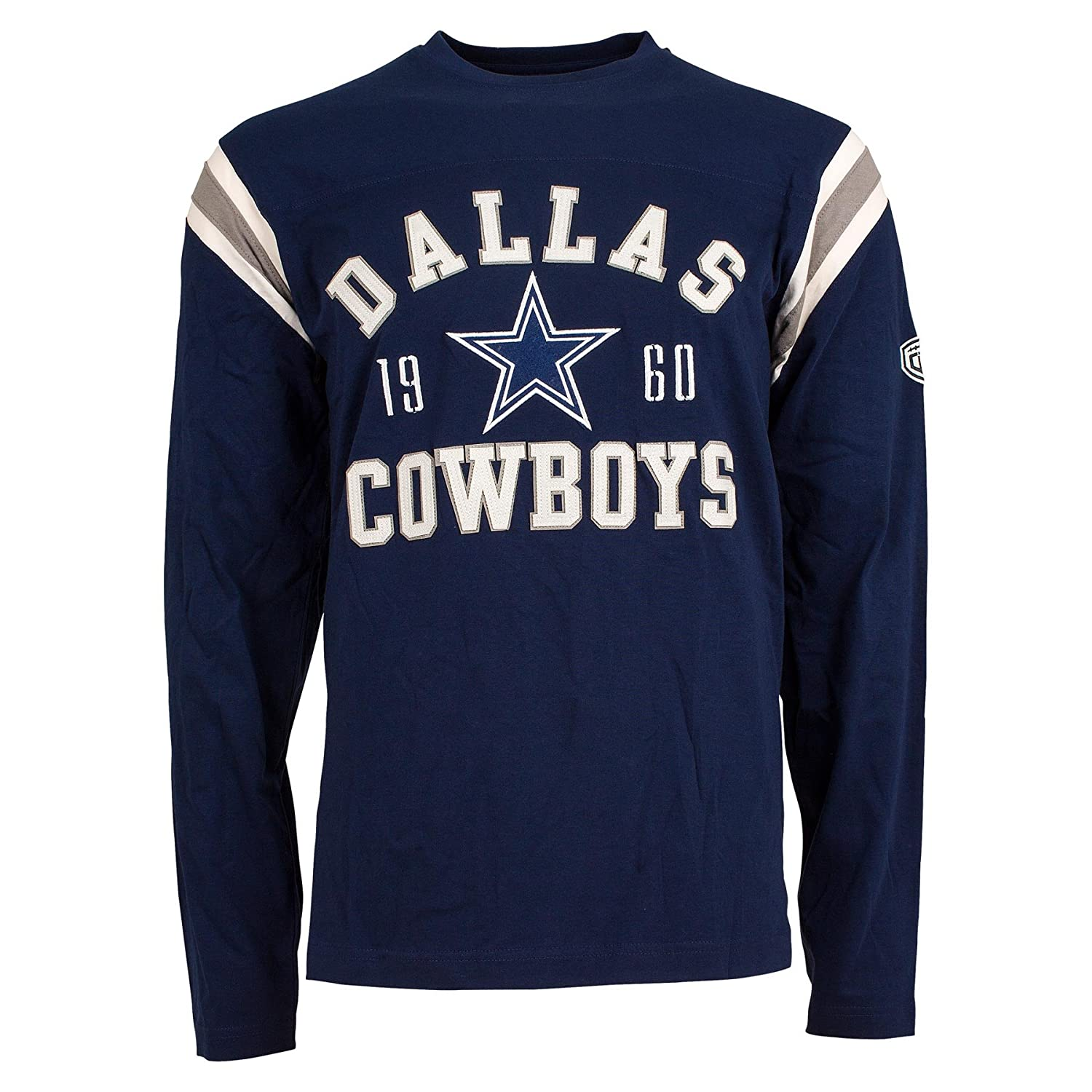 Dallas Cowboys Lateral Felt Applique Long Sleeve Jersey T-Shirt - Size X-Large