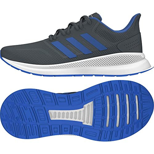 610cec6b9b6a adidas Kids Falcon Running Shoes Darkgrey/Blue/White UK C13 (31.5)