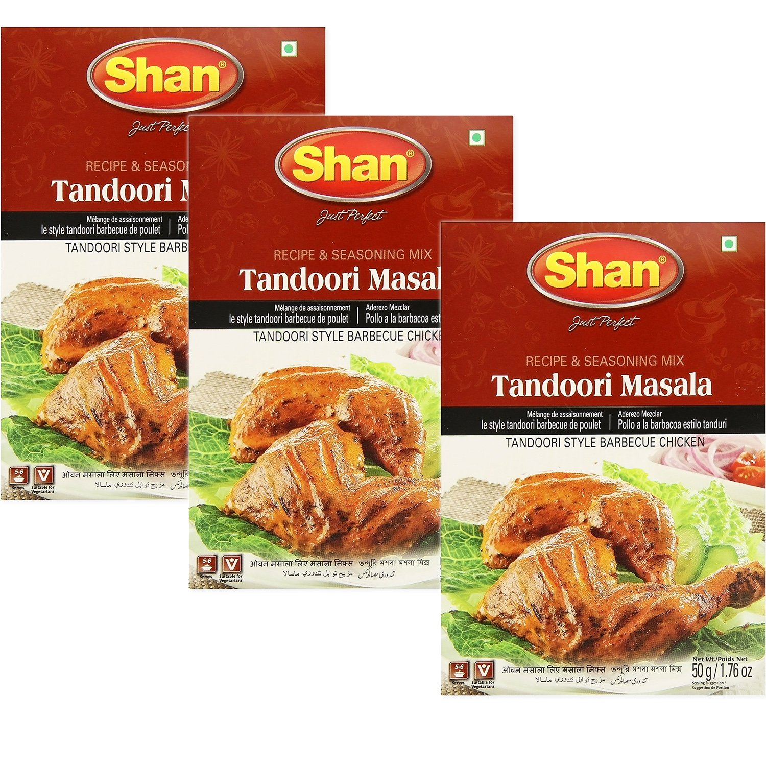 Shan - Tandoori Masala Seasoning Mix (3 PACK), 50g x 3