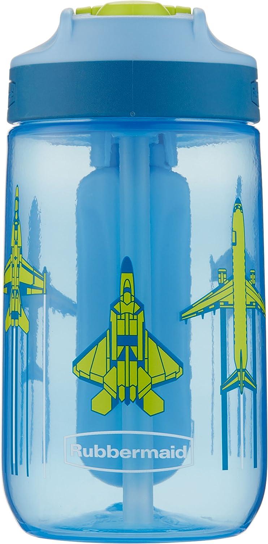 Rubbermaid Leak-Proof Sip Kids Water Bottle, Blue Ice Stick, Jets