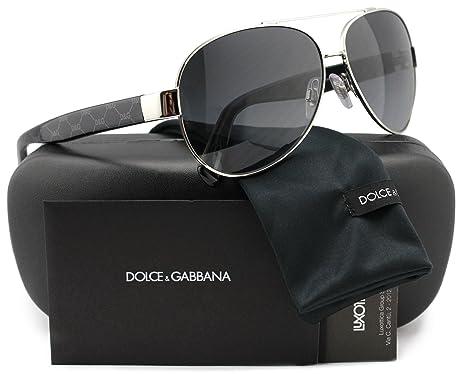 7e54abd12a6 Dolce   Gabbena DG2118P D G All Over Aviator Polarized Sunglasses Silver w Grey  Gradient (