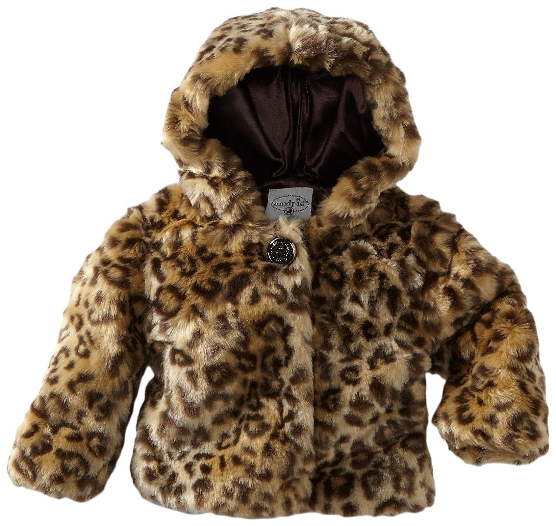 Amazon Mud Pie Baby Girls Leopard Faux Fur Coat Multi Colored