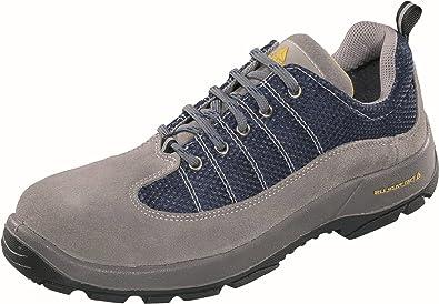 Delta plus calzado - Zapato serraje nylon poliuretano gris/azul 2d -s1p talla 36