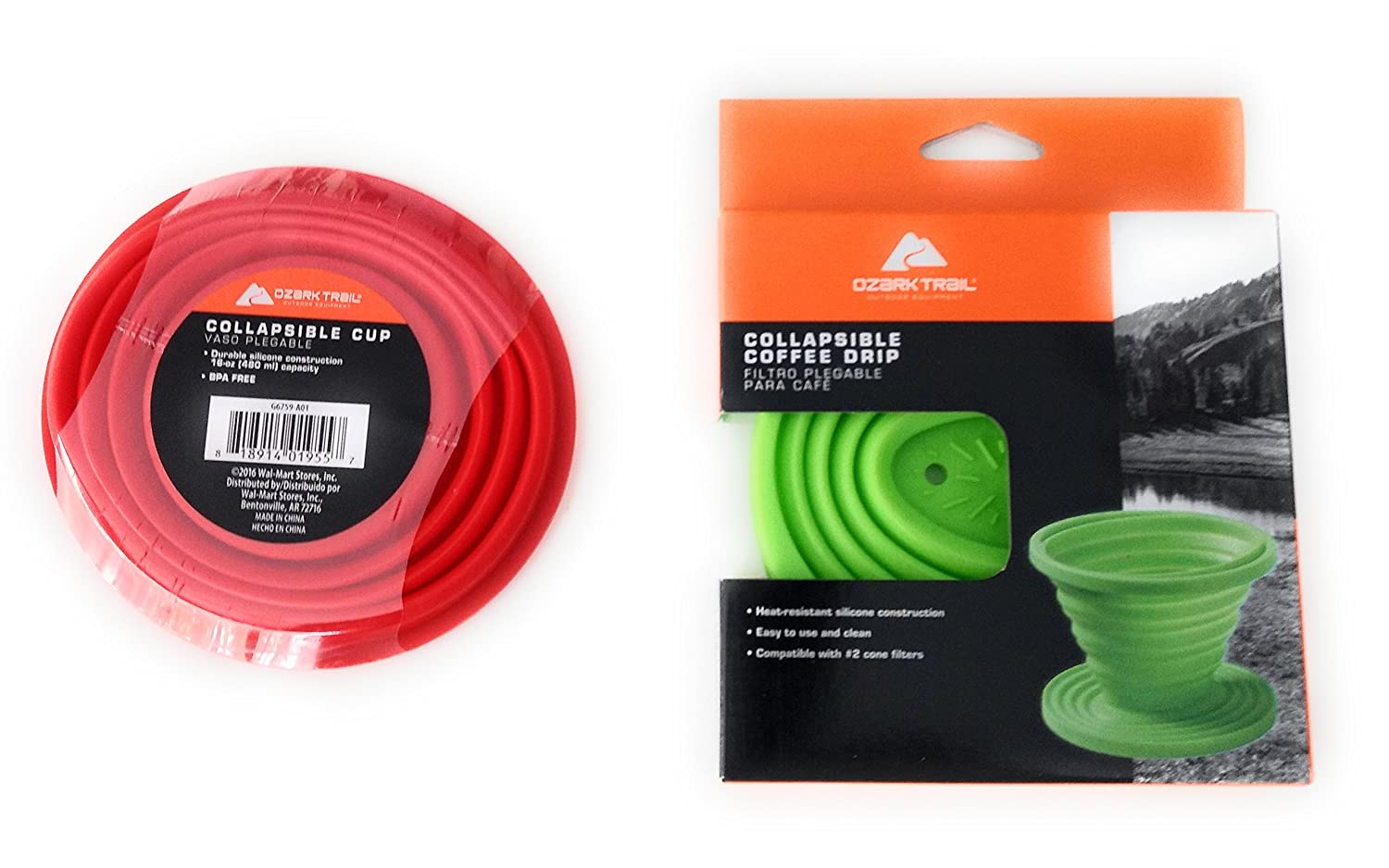 Collapsible Coffee Drip and Collapsible Cup