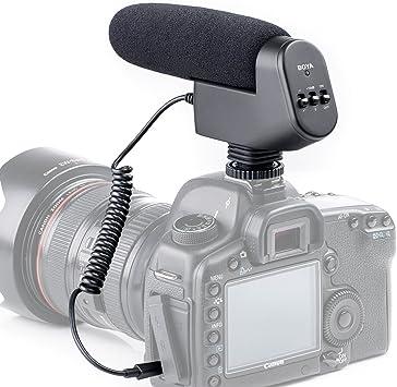 Nuevo BOYA by-vm600 Cardioide direccional 3,5 mm Micrófono de ...