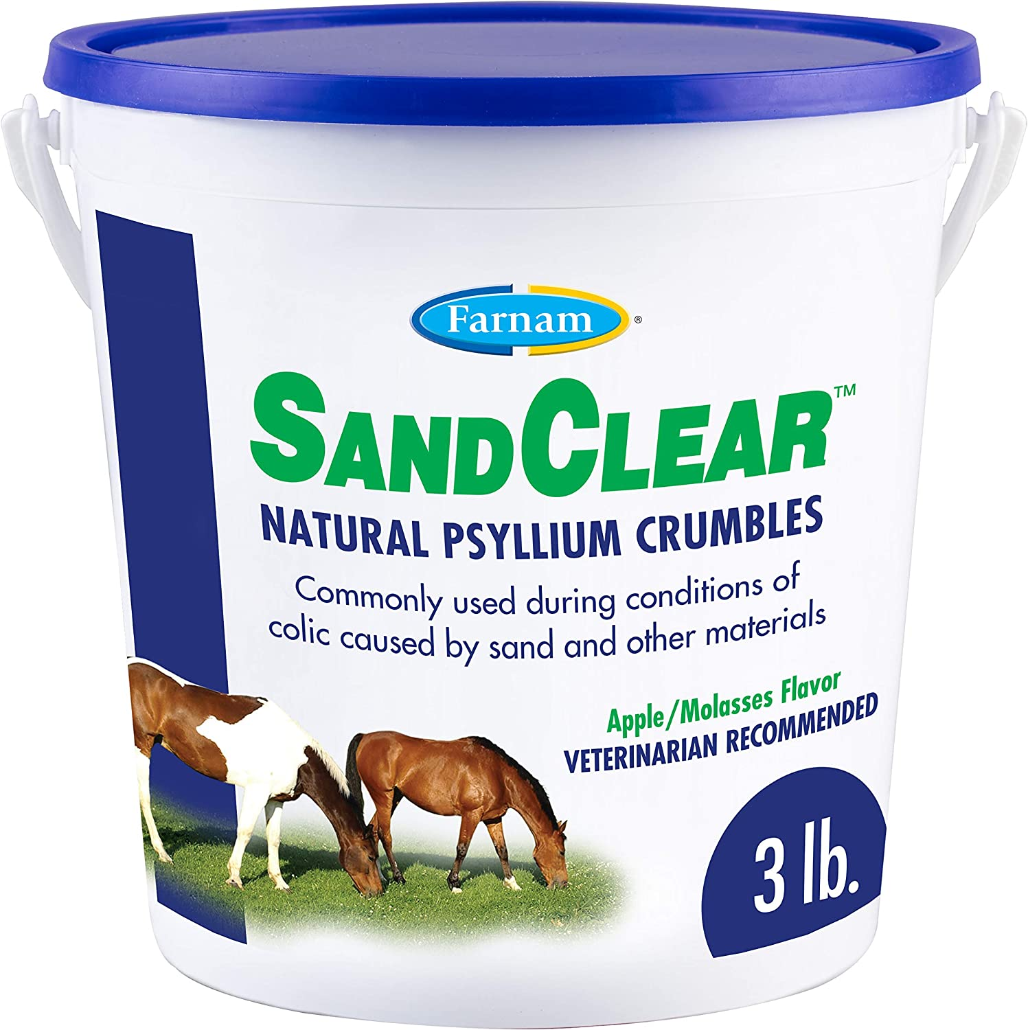 Farnam SandClear Natural Psyllium Crumbles, 3 lbs : Horse Nutritional Supplements And Remedies : Pet Supplies
