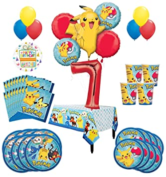 Amazon Com Pokemon 7th Birthday Party Supplies And 8 Guest 54pc