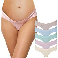 INNERSY Womens 5-Pack Maternity Cotton Panties Underwear