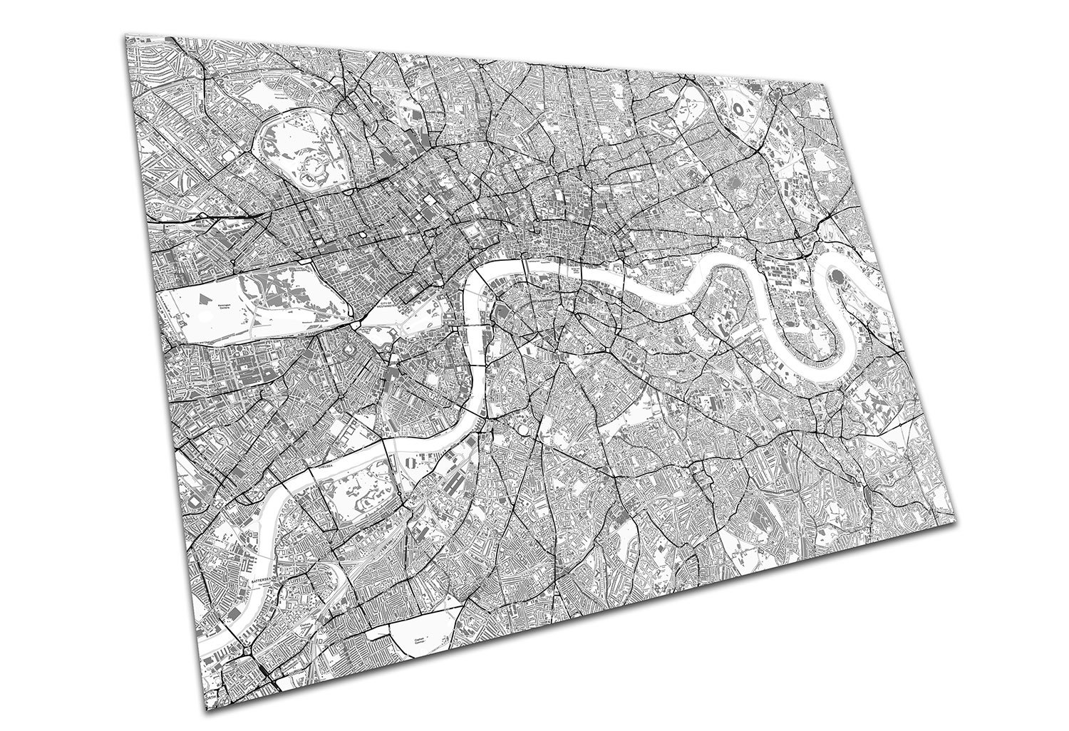 High Resolution London Street Map.Eaposter Central London England Street Map Artwork Print