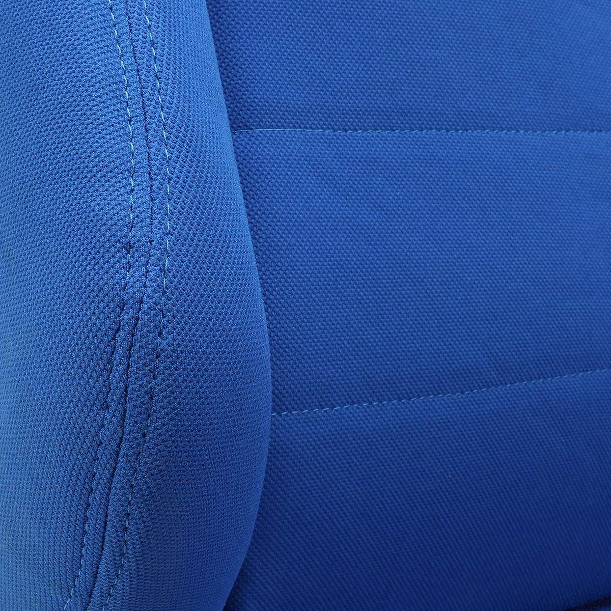 ModifyStreet 1 Pair Universal Black PVC Leather//White Strip//Red Stitching Racing Bucket Seats