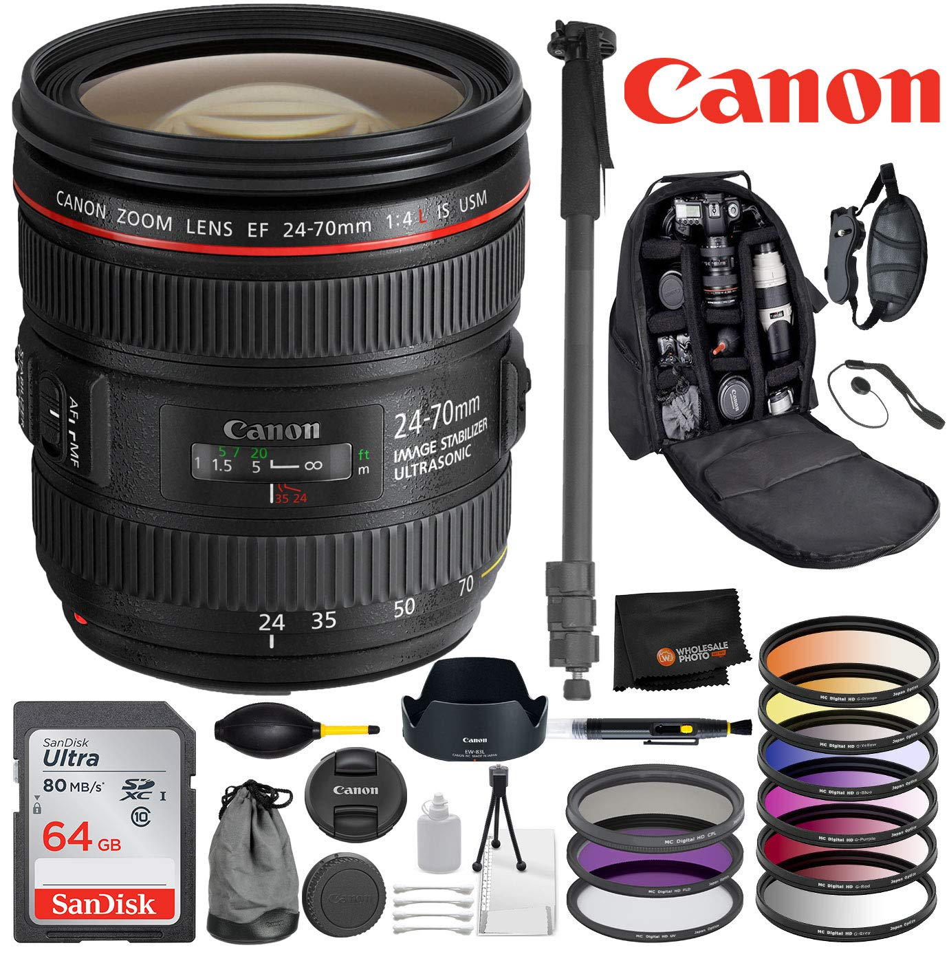 Amazon com : Canon EF 24-70mm f/4L is USM Lens with Professional