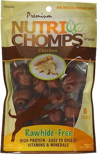 Scott Pet Nt003 Nutri Chomps Mini Knots Chicken Flavor Dog Chew, 8 Count