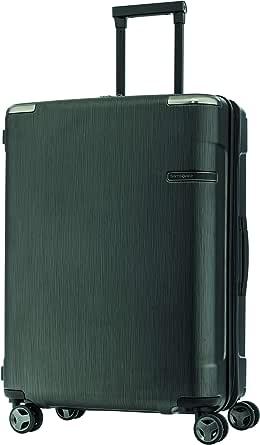 Samsonite EVOA Expandable Hard side Spinner Suitcase, Brushed Black