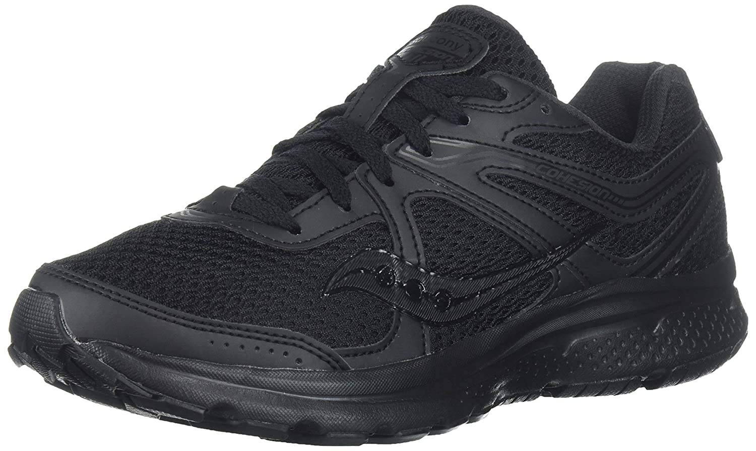 Black  Black Saucony Womens Grid Cohesion 11 Running shoes