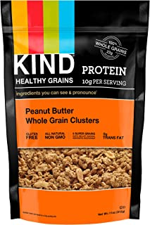 product image for KIND Healthy Grains Clusters, Peanut Butter Whole Grain Granola, 10g Protein, Gluten Free, Non GMO, 11 Ounce