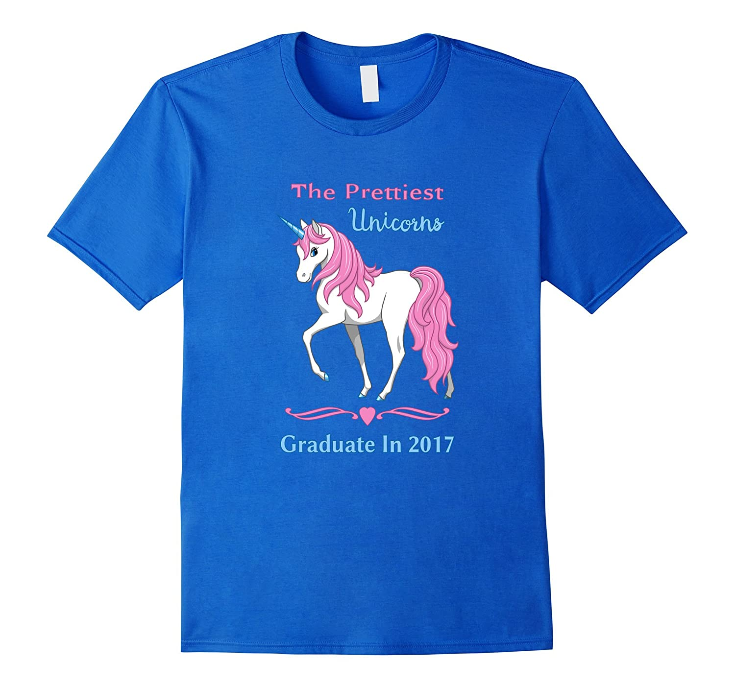 Pretty Pink Unicorns Graduate In 2017 T-shirt-Vaci