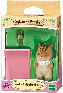 SYLVANIAN FAMILIES Walnut Squirrel Baby Mini muñecas y Accesorios Epoch para Imaginar 5065