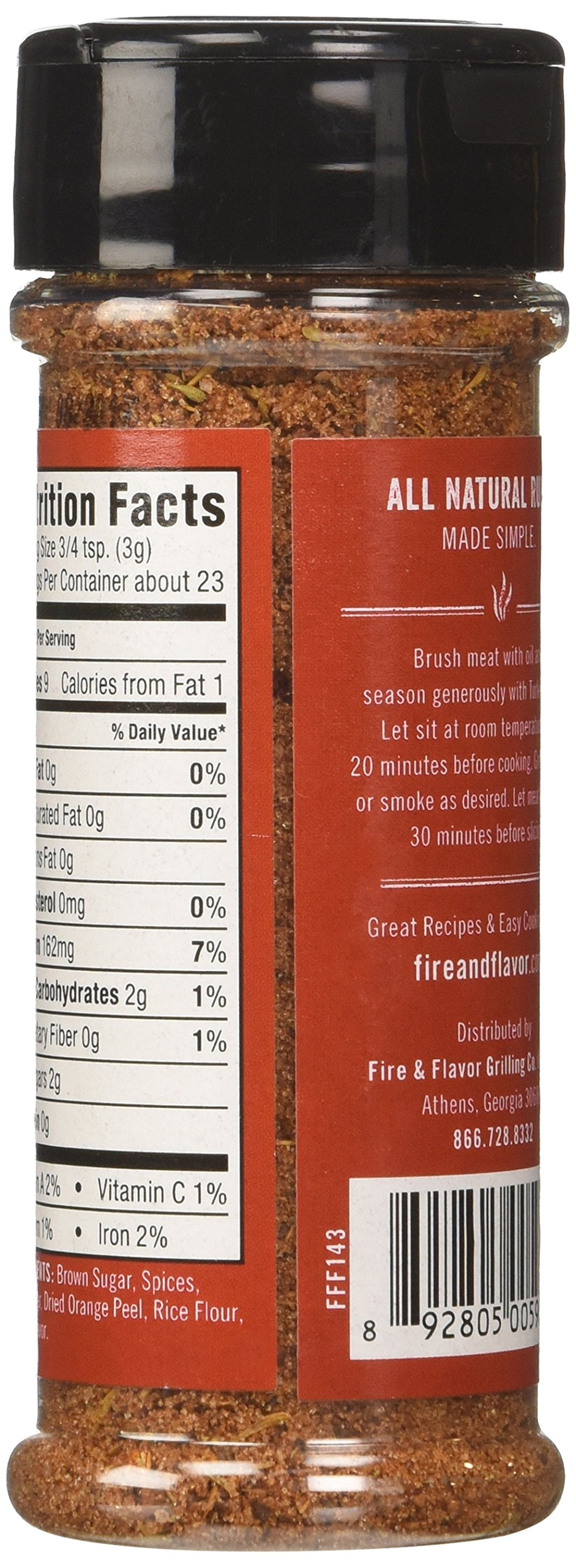 Fire and Flavor 2.6 Ounce All Natural Turkey Rub