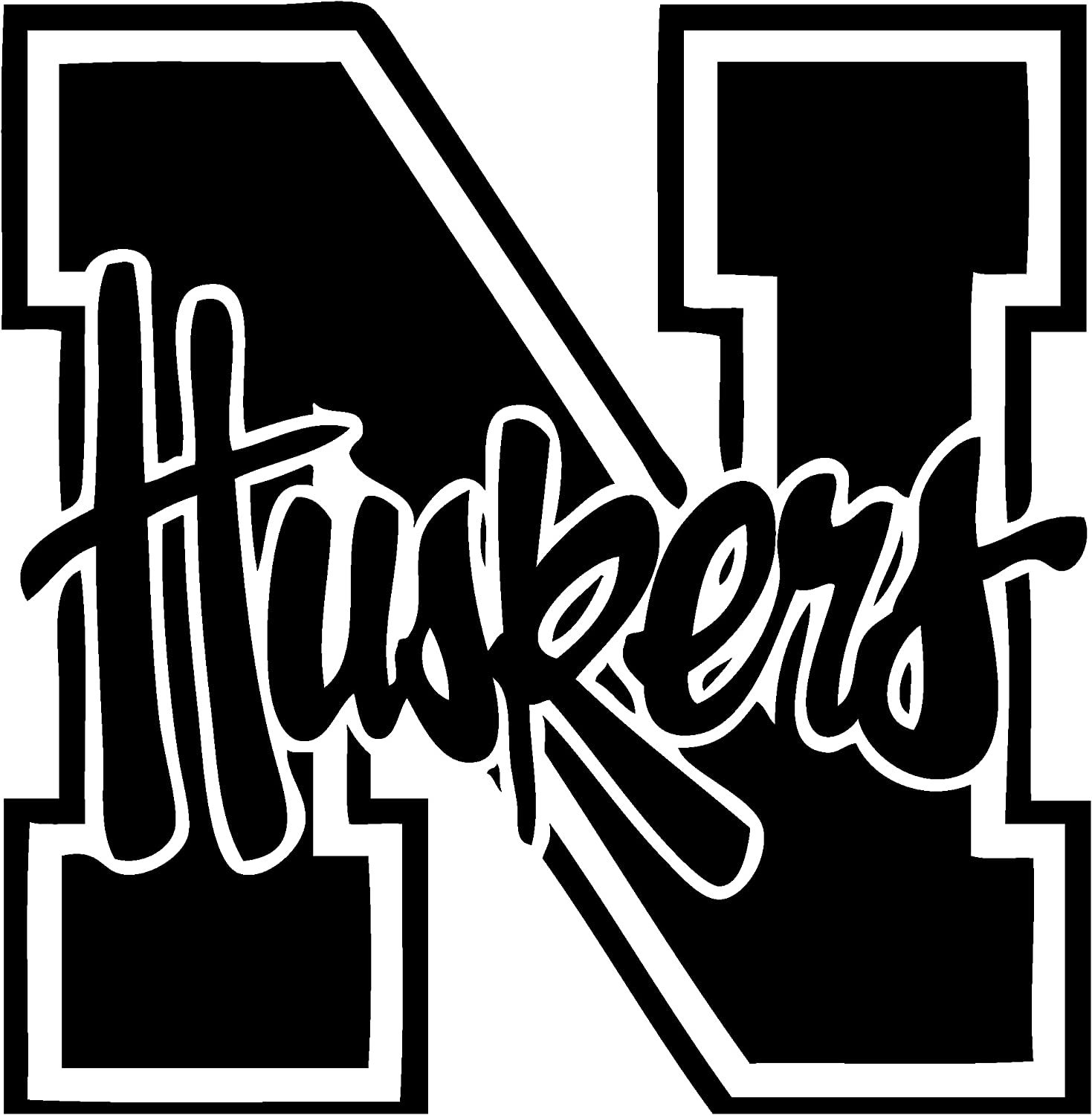 TDT Printing & Custom Decals Nebraska Cornhuskers Vinyl Decal Sticker for Car or Truck Windows, Laptops etc.
