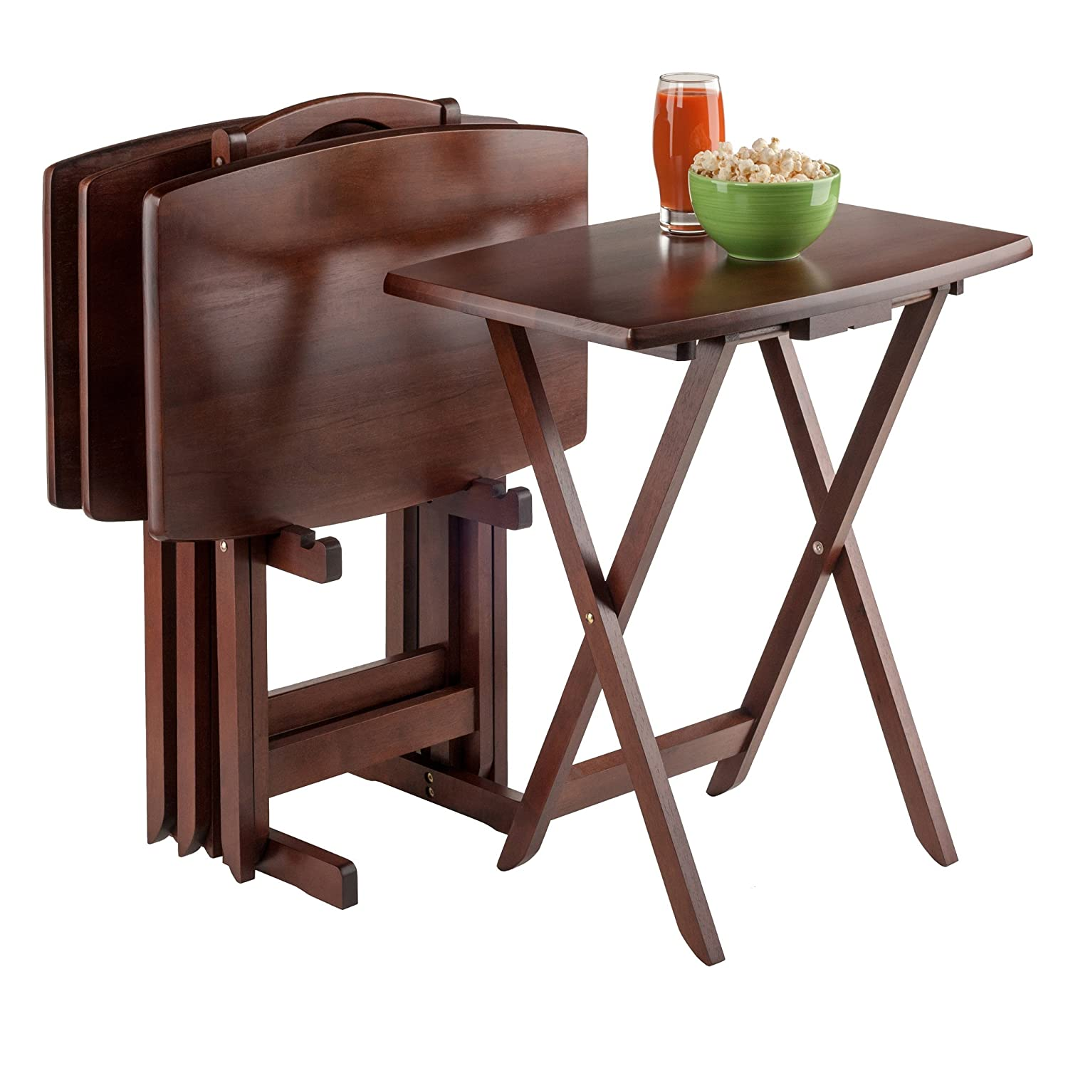 sc 1 st  Amazon.com & Amazon.com: Winsome Oversize Snack Table Set Walnut: Kitchen u0026 Dining